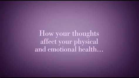 How Your Thoughts Affect Your Health - YouTube