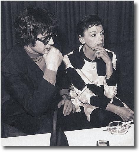 Judy Garland and Mickey Deans, on stage at The National