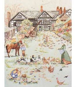 Design Perfection Freestyle Embroidery Kit - Manor Farm