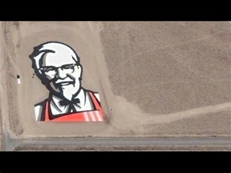 How to find KFC logo on Google Earth - Colonel Sanders