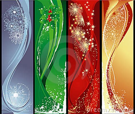 Christmas Vertical Banners Stock Photography - Image: 6639552