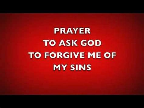 Prayer to Ask God to Forgive Me of My Sins - YouTube