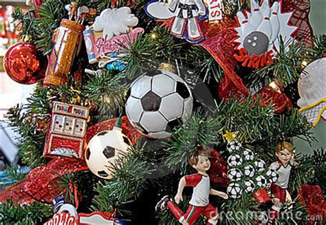 Soccer Themed Christmas Tree Stock Images - Image: 10960914