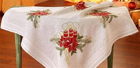 Deco-Line Freestyle Embroidery Tablecloth Kit - Christmas