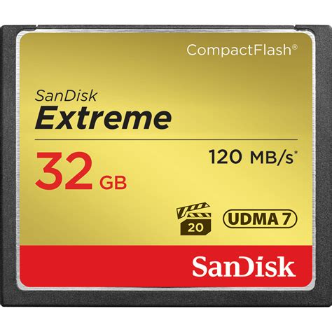 SanDisk ExtremeCompactFlashMemory Card 32 GB