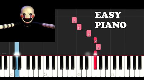 FNAF Song - The Puppet Song (Tryhardninja)(EASY Piano