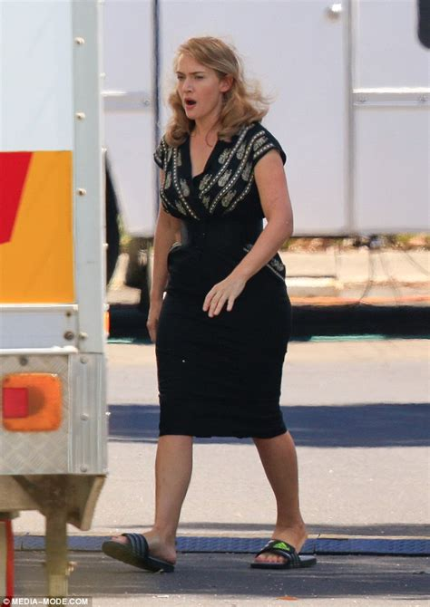 Kate Winslet filming '50s movie The Dressmaker in