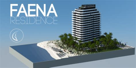 Faena Residence beach palm trees house complete ocean lake