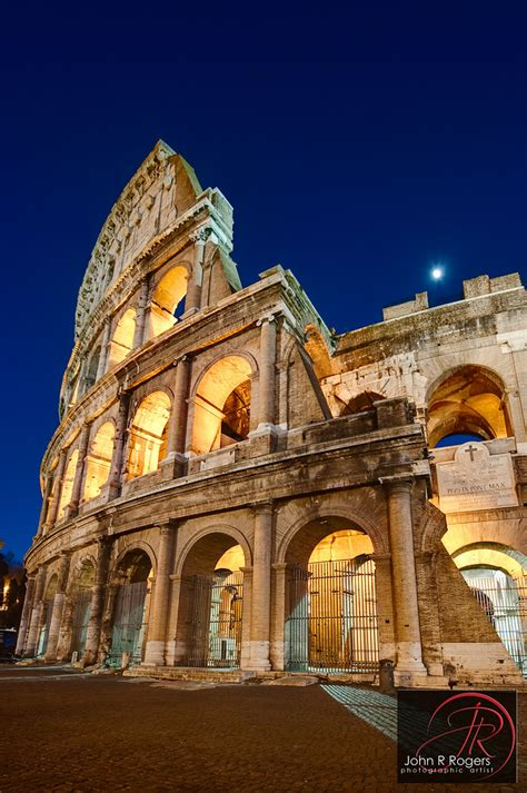 Roman Colosseum at 'purple hour', Rome Italy | My brother