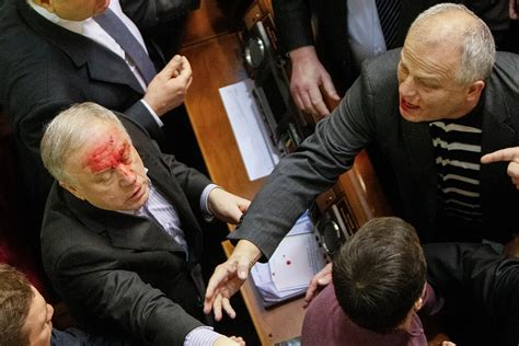 Politicians Trade Blows as a Fight Breaks Out in Ukraine