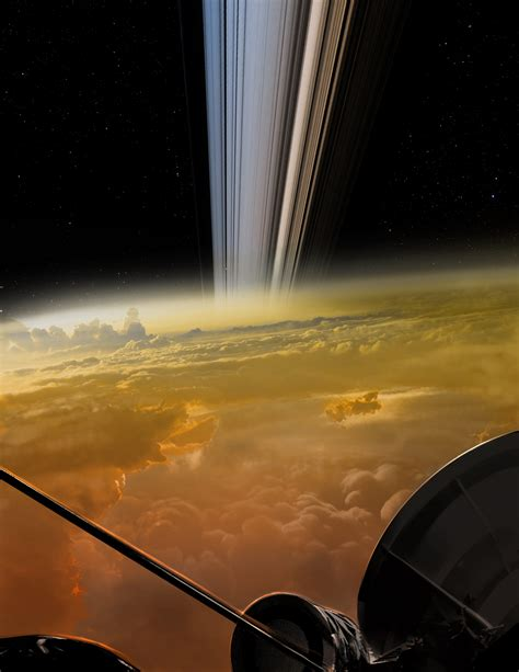 Cassini's Incredible 'Last Image' of Saturn Before Fiery