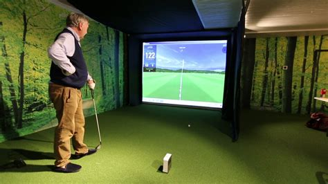 Home Golf SkyTrak Simulator - YouTube
