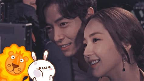 Park Min Young ♥ Kim Jae Wook ~ behind the scenes moments