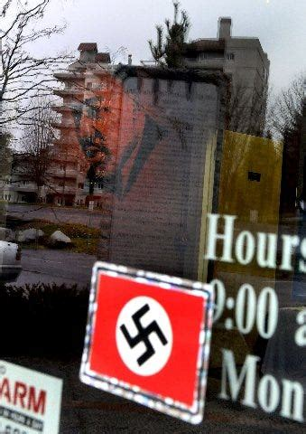 Swastika pasted on Coeur d'Alene human rights center