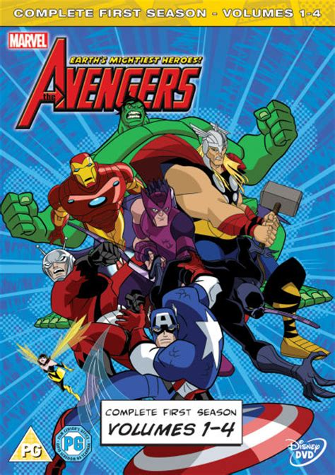 The Avengers: Earths Mightiest Heroes - Volumes 1-4 DVD