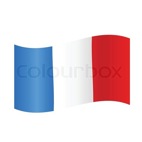 French flag wavy, France flag in wave
